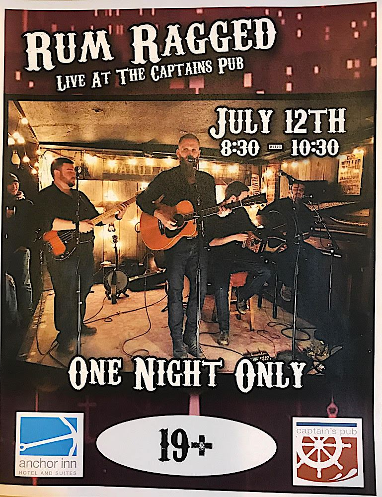 Rum Ragged at Captain's Pub on 12 July 2017 in Twillingate