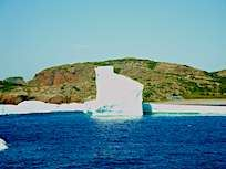 Iceberg in French Beach with Seaport Strollers Twillingate